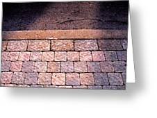 Brick Sidewalk 3 Wc Greeting Card