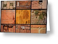 Bricks Collage  Greeting Card