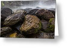 Bridal Veil Falls - Highlands, Nc Greeting Card