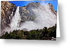 Bridalveil Fall Yosemite Valley Greeting Card