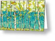 Bright Birches Greeting Card