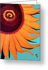 Bright Happy Sunflower Greeting Card