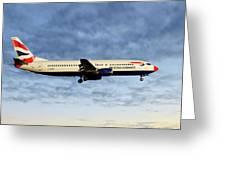 British Airways Boeing 737-436 Greeting Card