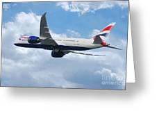 British Airways Boeing 787 Dreamliner Greeting Card