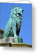 Bronze Lion. Greeting Card