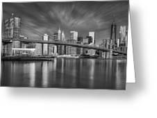 Brooklyn Bridge From Dumbo Greeting Card