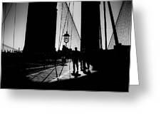 Brooklyn Shadows Greeting Card