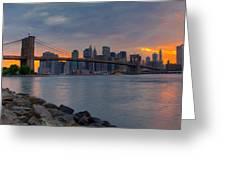 Brooklyn Sunset Greeting Card