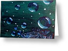 Bubble Fish Underwater Greeting Card
