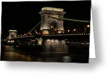 Budapest At Night. Greeting Card