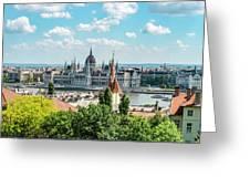 Budapest Skyline Greeting Card