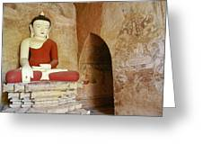 Buddha In A Niche Greeting Card