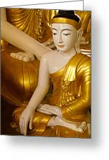 Buddhas In Burma Greeting Card