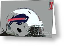 Buffalo Bills Football Team Ball And Typography Greeting Card