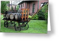 Buffalo Trace Barrel Wagon Greeting Card