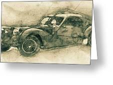 Bugatti Type 57 - Atlantic 3 - 1934 - Automotive Art - Car Posters Greeting Card