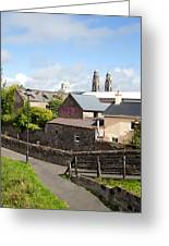 Buildings In A Town, Mullingar, County Greeting Card