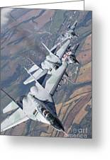 Bulgarian And Polish Air Force Mig-29s Greeting Card