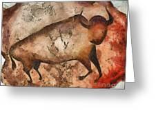Bull A La Altamira Greeting Card