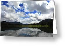 Bull Lake Reflection Greeting Card