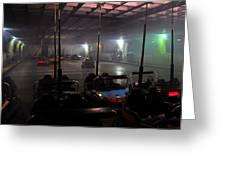 Bumper Cars In Fog Greeting Card