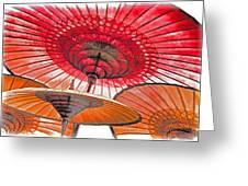 Burmese Parasols Greeting Card