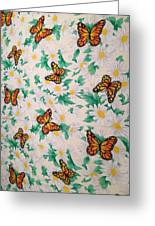 Butterflies And Daisies - 1 Greeting Card