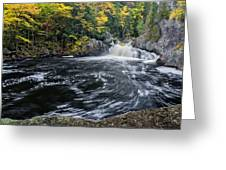 Buttermilk Falls Gulf Hagas Me. Greeting Card