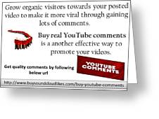 Buy Youtube Comments Greeting Card