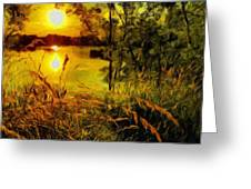 C Landscape Greeting Card