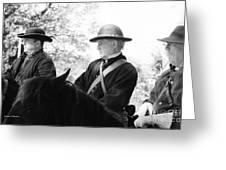 C S A  Co. H 4th Virginia Cavalry Black Horse Troop 150th Anniversary Of The Civil War Warrenton Va. Greeting Card