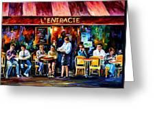Cafe In Paris Greeting Card
