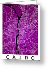 Cairo Street Map - Cairo Egypt Road Map Art On Colored Backgroun Greeting Card