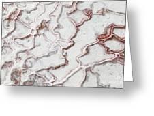 Calcium Deposits From Thermal Springs, Pamukkale - Turkey  Greeting Card