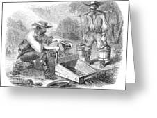 California Gold Rush, 1860 Greeting Card