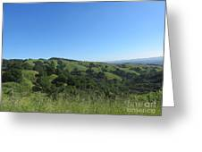 California Hills Greeting Card