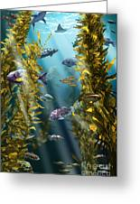 California Kelp Forest Greeting Card