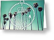 California Palms I Greeting Card