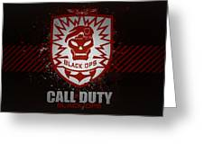 Call Of Duty Black Ops Greeting Card