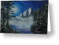 Calmness Under Moon Greeting Card