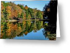 Camp Blanton Autumns Reflection Greeting Card