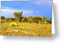 Camp Ground Near Kasane In Botswana Greeting Card