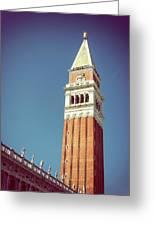 Campanile In Venice Greeting Card