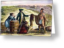 Canada: Fur Traders, 1777 Greeting Card by Granger