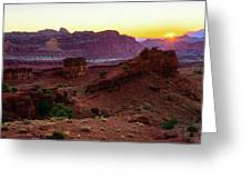 Capitol Reef Sunrise Greeting Card by John Hight