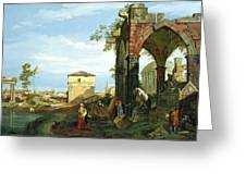 Capriccio With Motifs From Padua Greeting Card