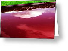 Car Reflection 4 Greeting Card