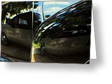 Car Reflection 8 Greeting Card