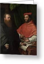 Cardinal Ippolito De Medici And Monsignor Mario Bracci Greeting Card