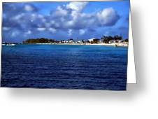 Caribbean Sea And Beach Greeting Card